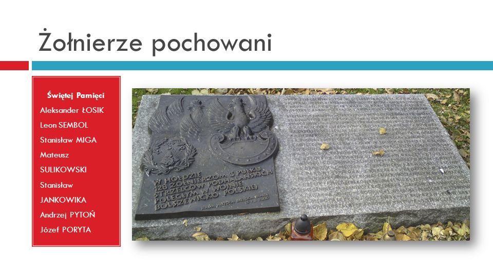 Żołnierze pochowani Świętej Pamięci Aleksander ŁOSIK Leon SEMBOL