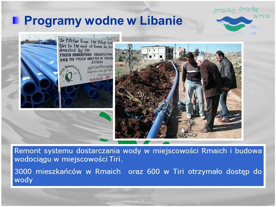 Programy wodne w Libanie