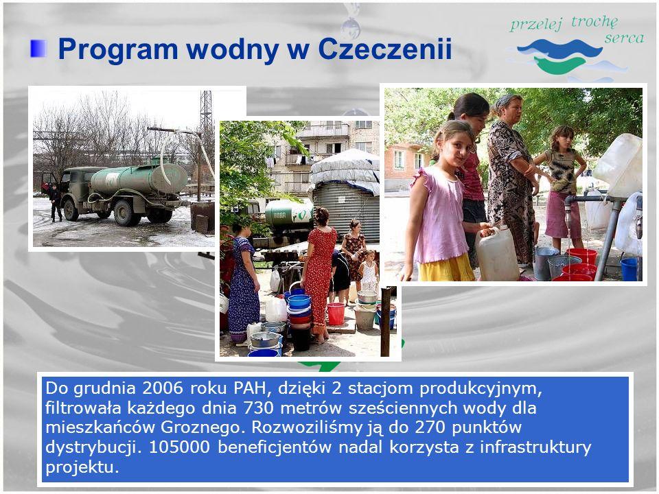 Program wodny w Czeczenii