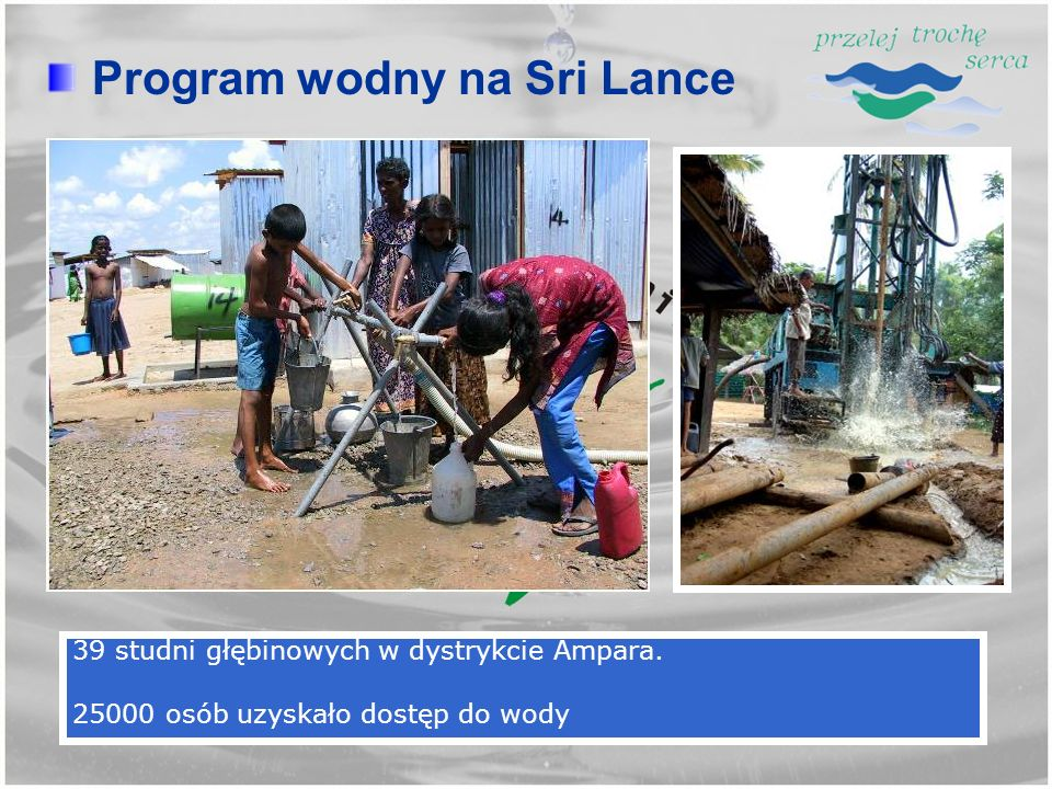 Program wodny na Sri Lance