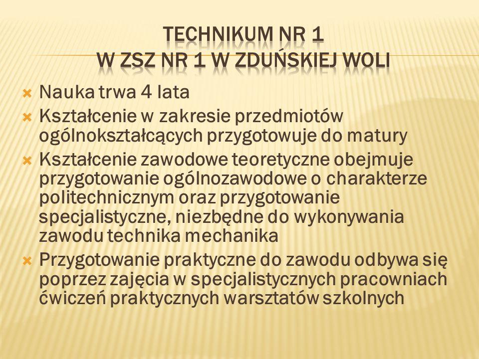 Technikum nr 1 w ZSZ nr 1 w Zduńskiej Woli