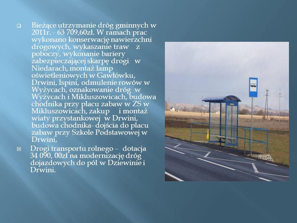 Bieżące utrzymanie dróg gminnych w 2011r. - 63 709,60zł