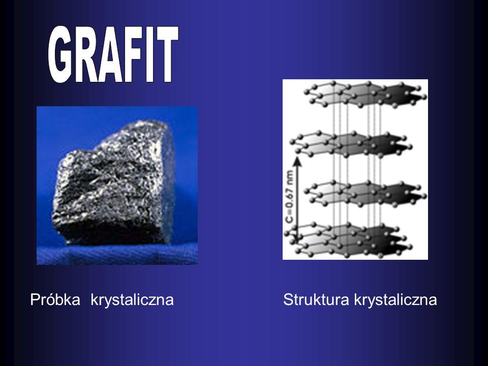 GRAFIT Próbka krystaliczna Struktura krystaliczna