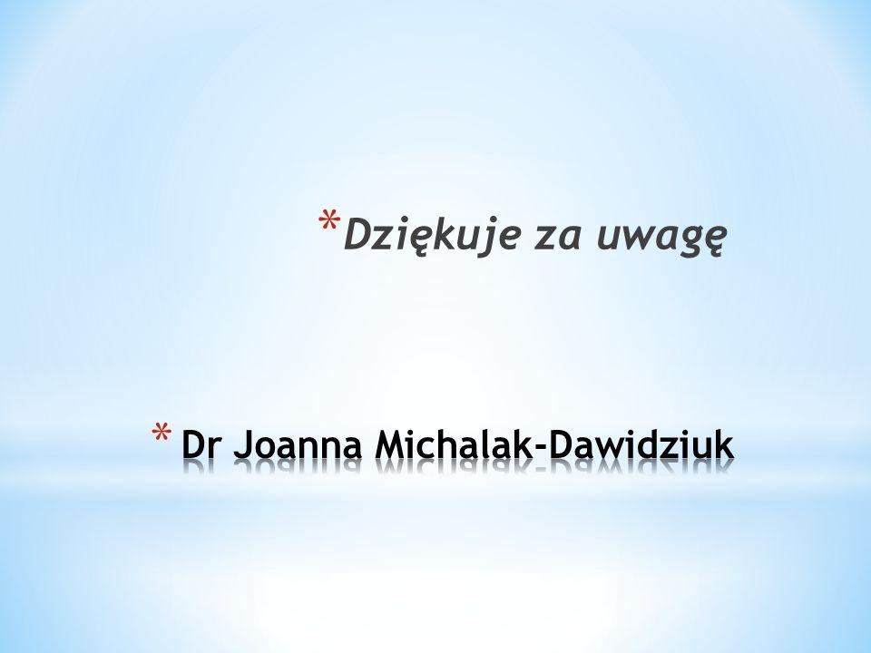 Dr Joanna Michalak-Dawidziuk