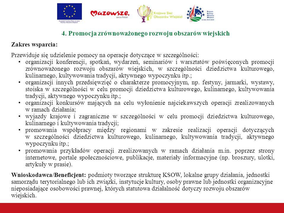 4. Promocja zrównoważonego rozwoju obszarów wiejskich