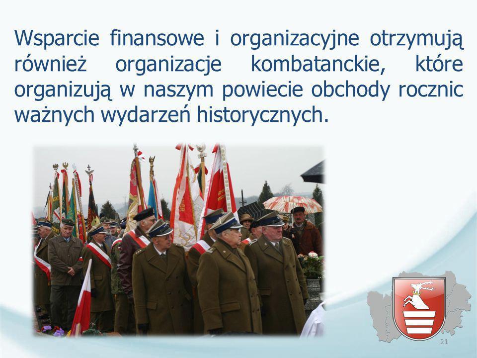 Wsparcie finansowe i organizacyjne otrzymują również organizacje kombatanckie, które organizują w naszym powiecie obchody rocznic ważnych wydarzeń historycznych.