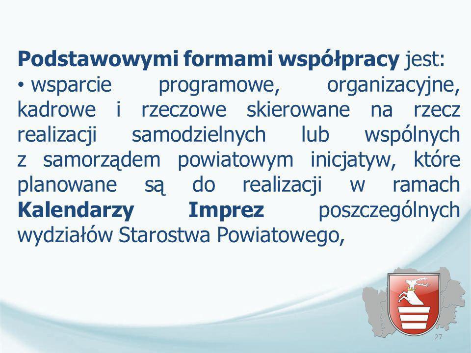 Podstawowymi formami współpracy jest: