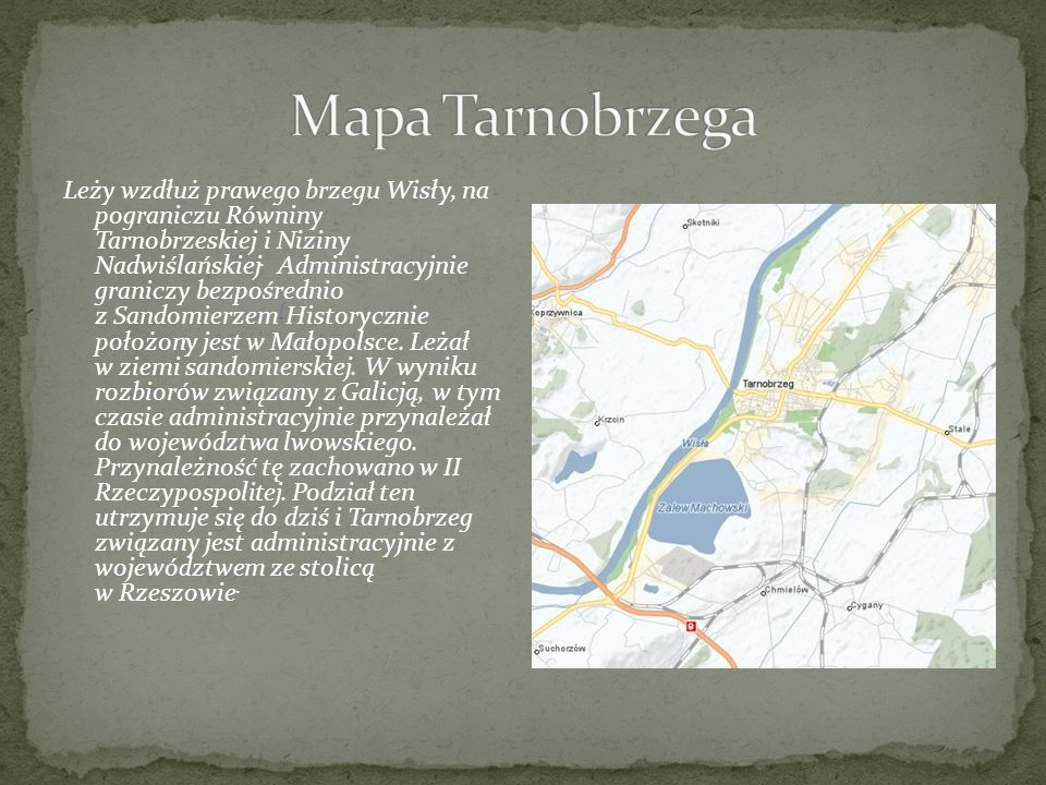 Mapa Tarnobrzega