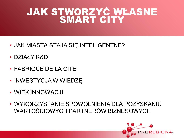 JAK STWORZYĆ WŁASNE SMART CITY