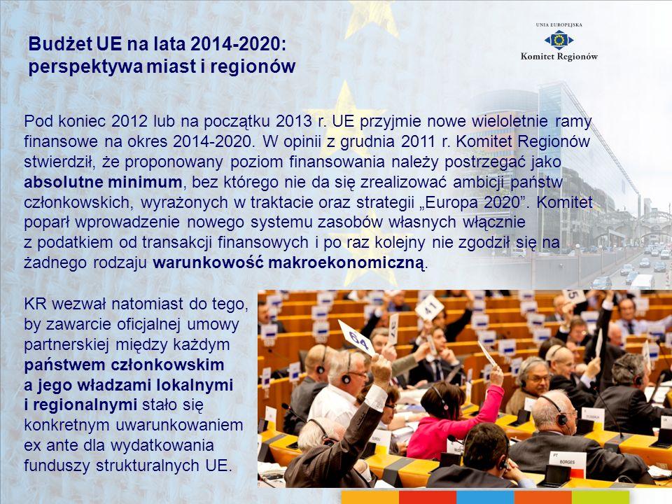 Budżet UE na lata 2014-2020: perspektywa miast i regionów