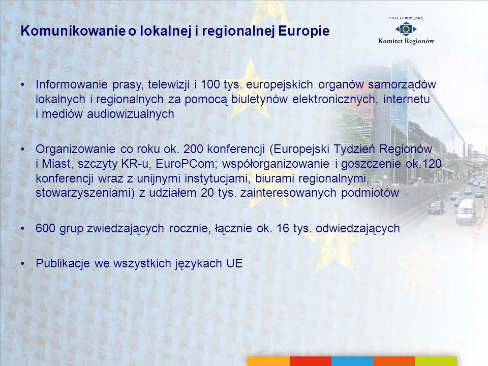 Komunikowanie o lokalnej i regionalnej Europie