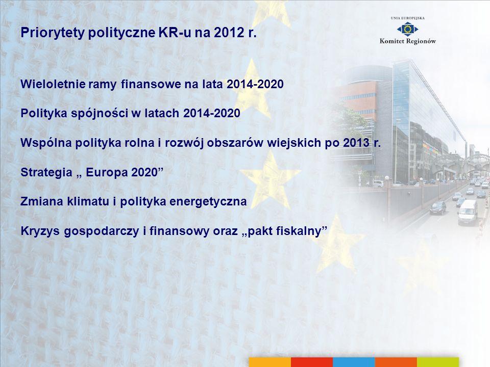 Priorytety polityczne KR-u na 2012 r.