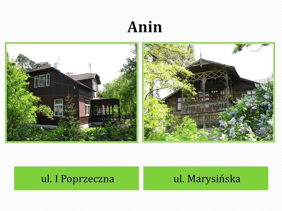 Anin ul. I Poprzeczna ul. Marysińska