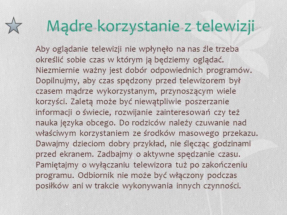 Mądre korzystanie z telewizji