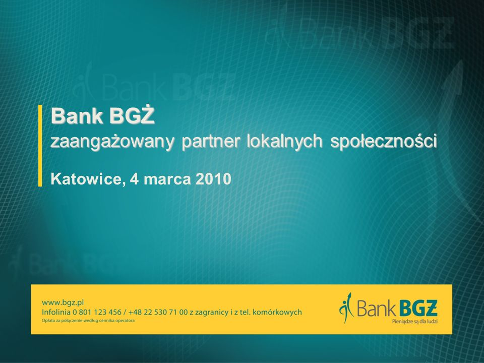 Bank BGŻ zaangażowany partner lokalnych społeczności