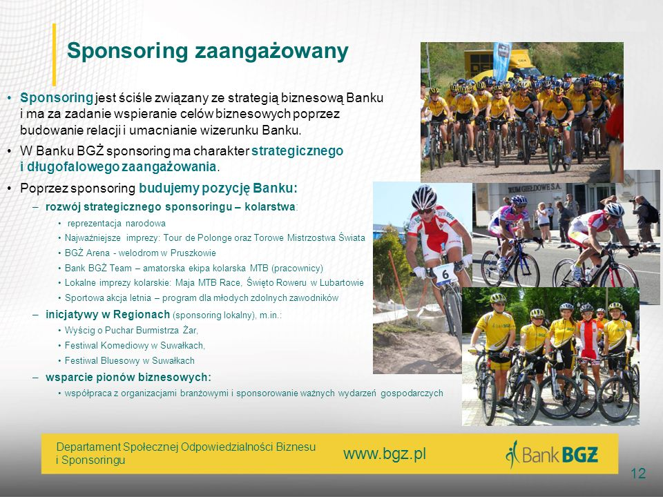 Sponsoring zaangażowany