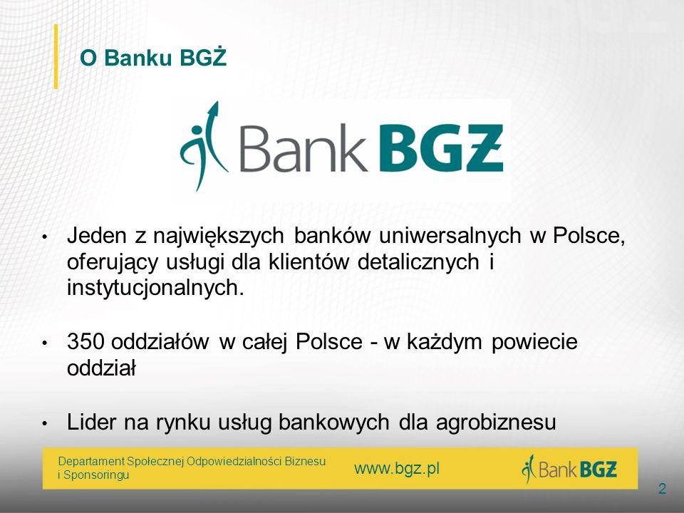 O Banku BGŻJeden z największych banków uniwersalnych w Polsce, oferujący usługi dla klientów detalicznych i instytucjonalnych.