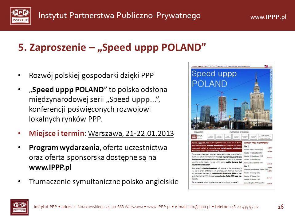 "5. Zaproszenie – ""Speed uppp POLAND"