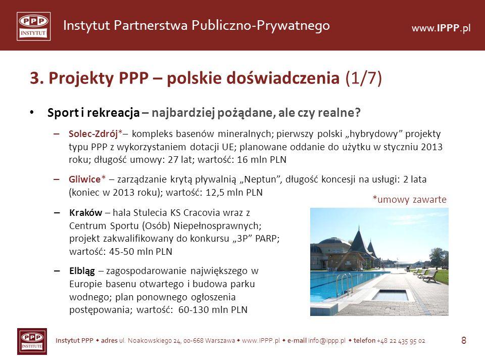3. Projekty PPP – polskie doświadczenia (1/7)