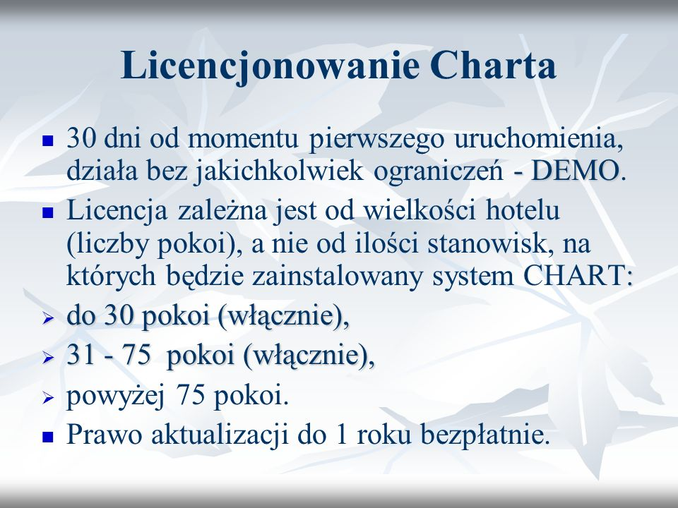 Licencjonowanie Charta