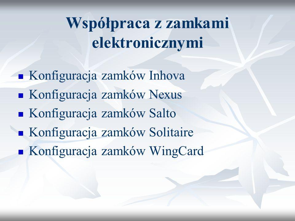 Współpraca z zamkami elektronicznymi