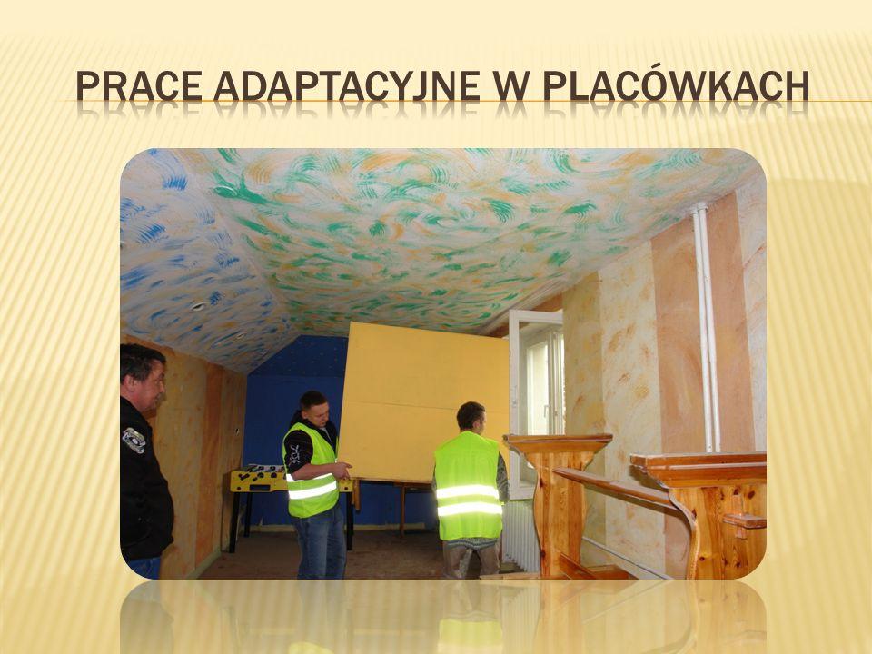 Prace adaptacyjne w placówkach