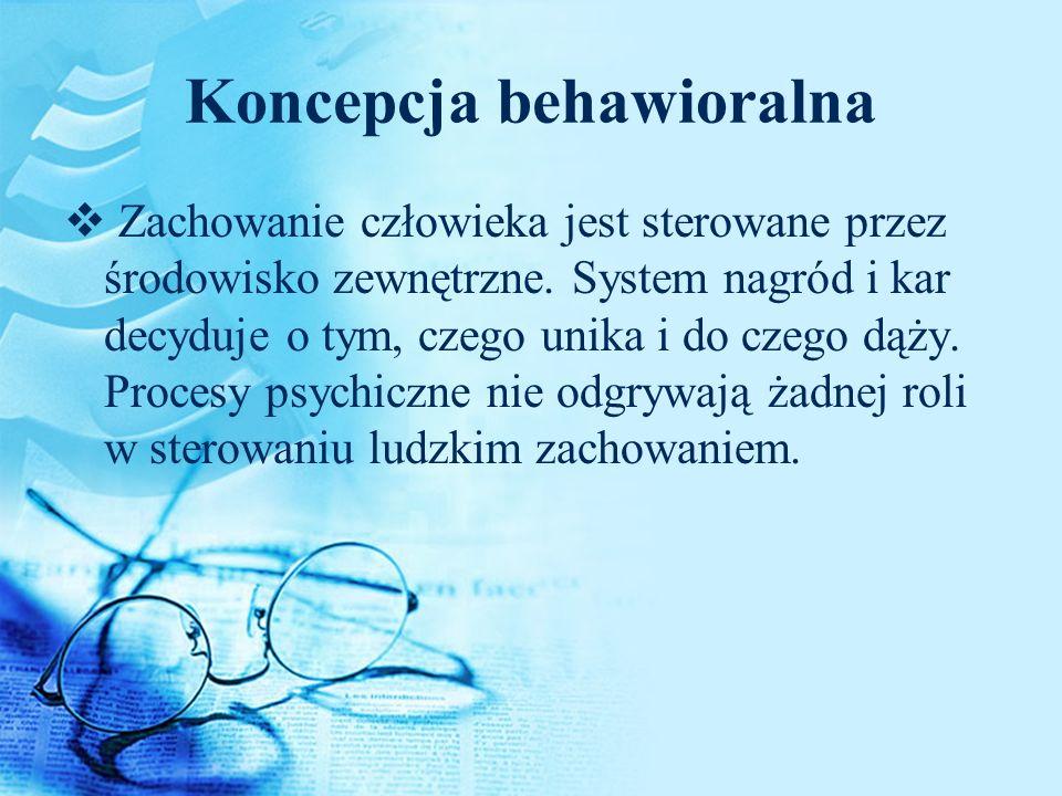 Koncepcja behawioralna