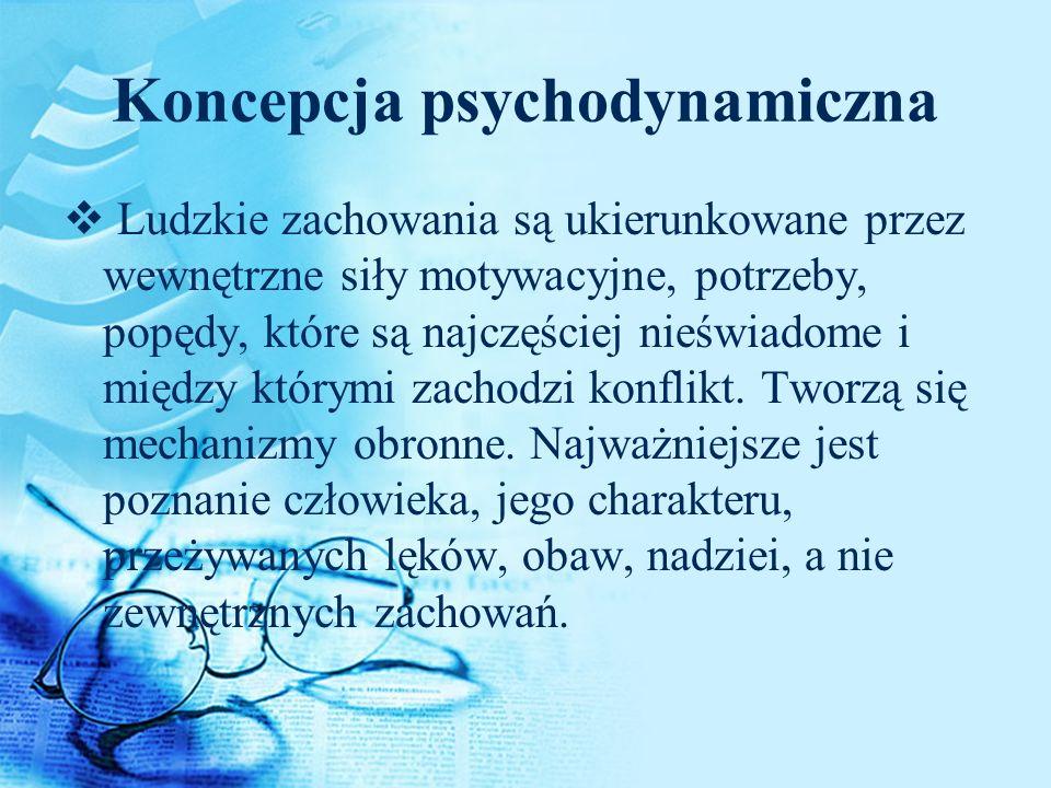 Koncepcja psychodynamiczna