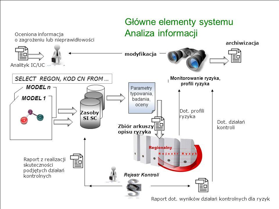 Główne elementy systemu Analiza informacji