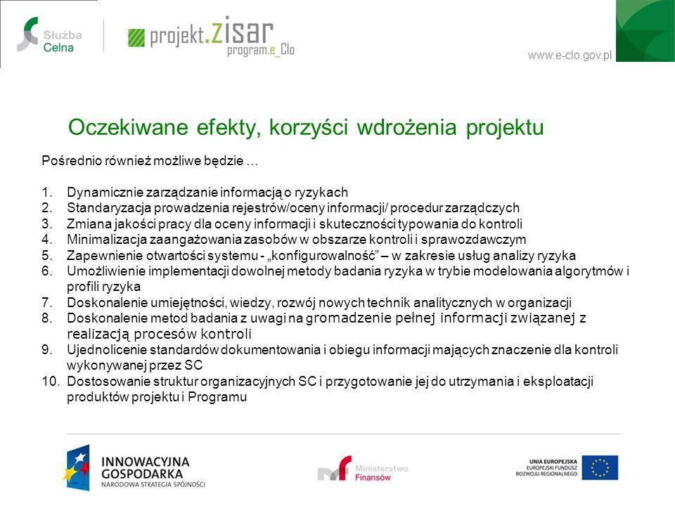 Oczekiwane efekty, korzyści wdrożenia projektu