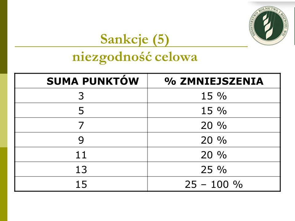 Sankcje (5) niezgodność celowa