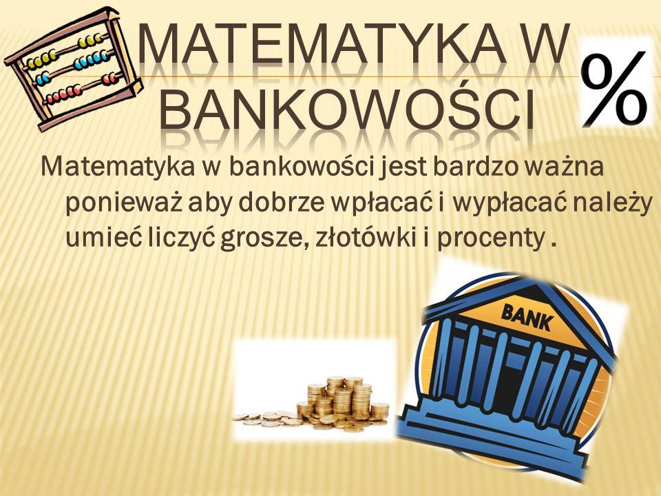 matematyka w bankowości