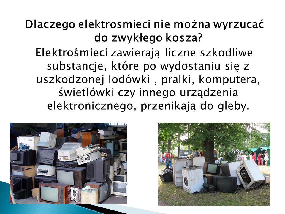 Dlaczego elektrosmieci nie można wyrzucać do zwykłego kosza