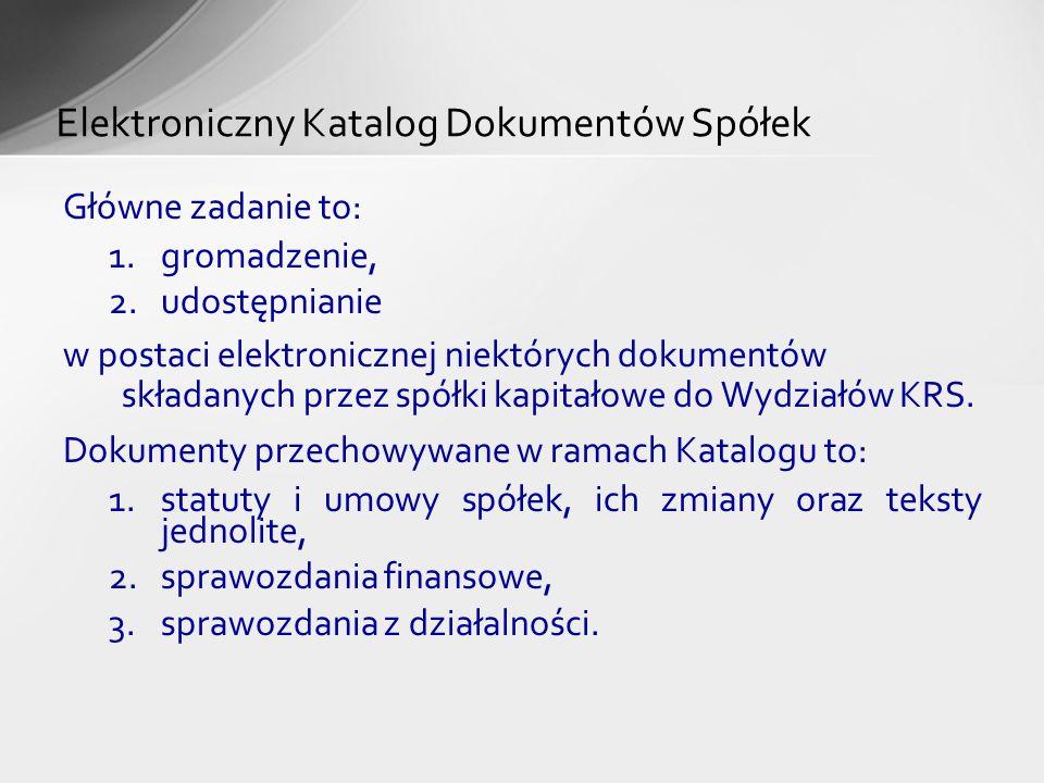 Elektroniczny Katalog Dokumentów Spółek