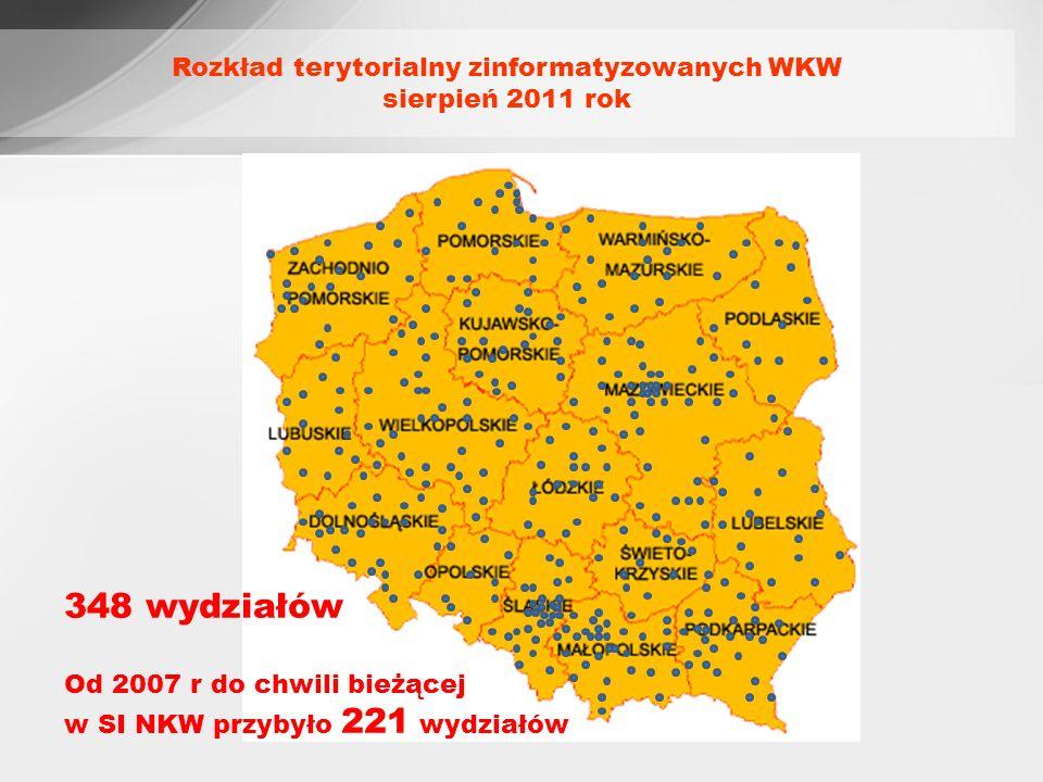 Rozkład terytorialny zinformatyzowanych WKW