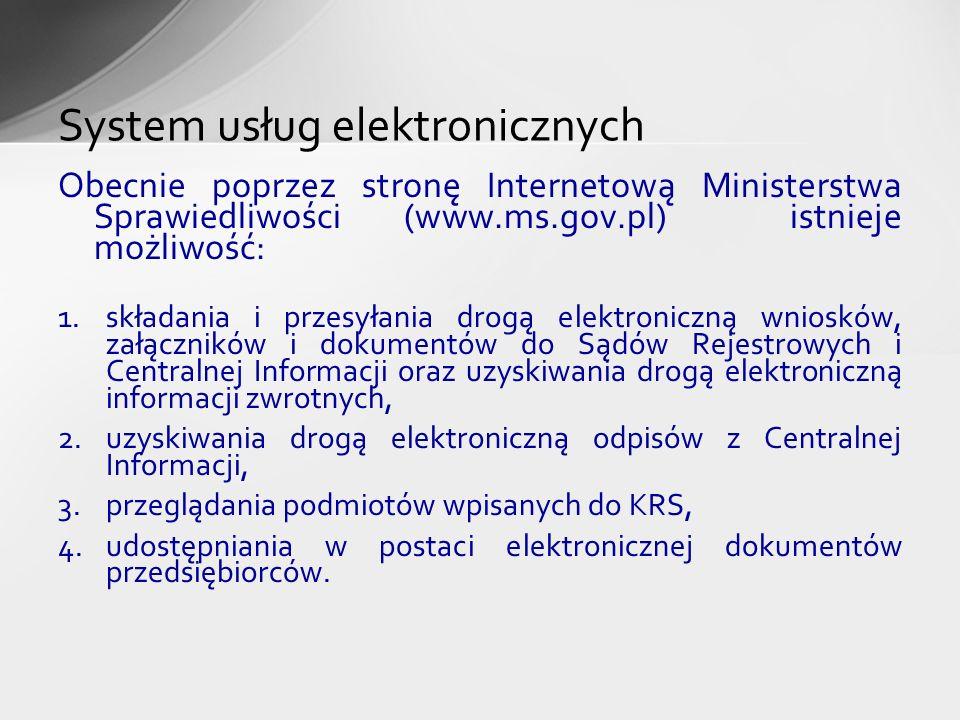 System usług elektronicznych