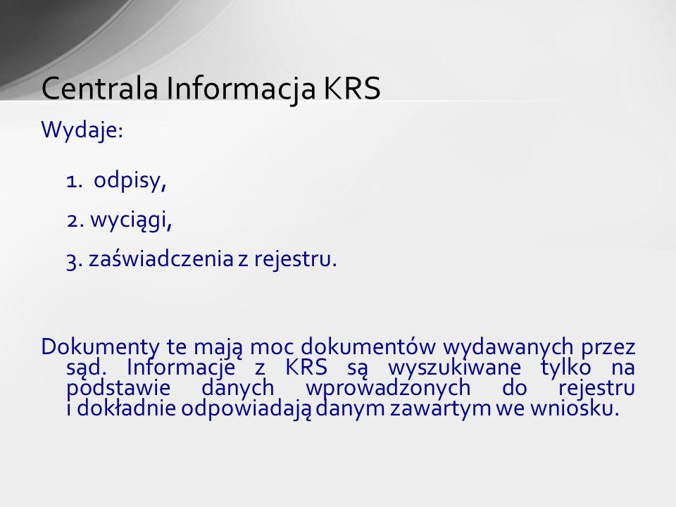 Centrala Informacja KRS
