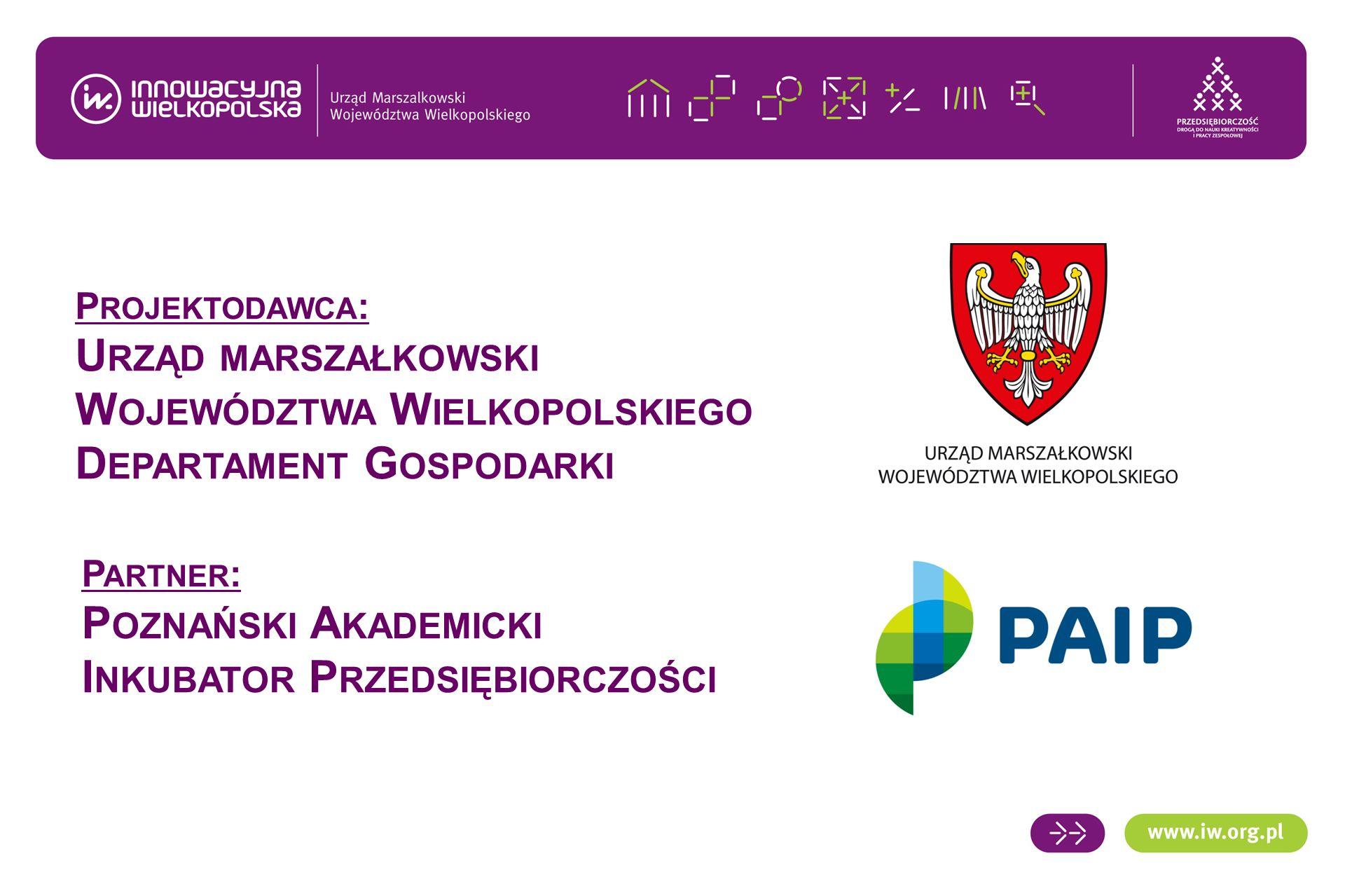 Województwa Wielkopolskiego Departament Gospodarki