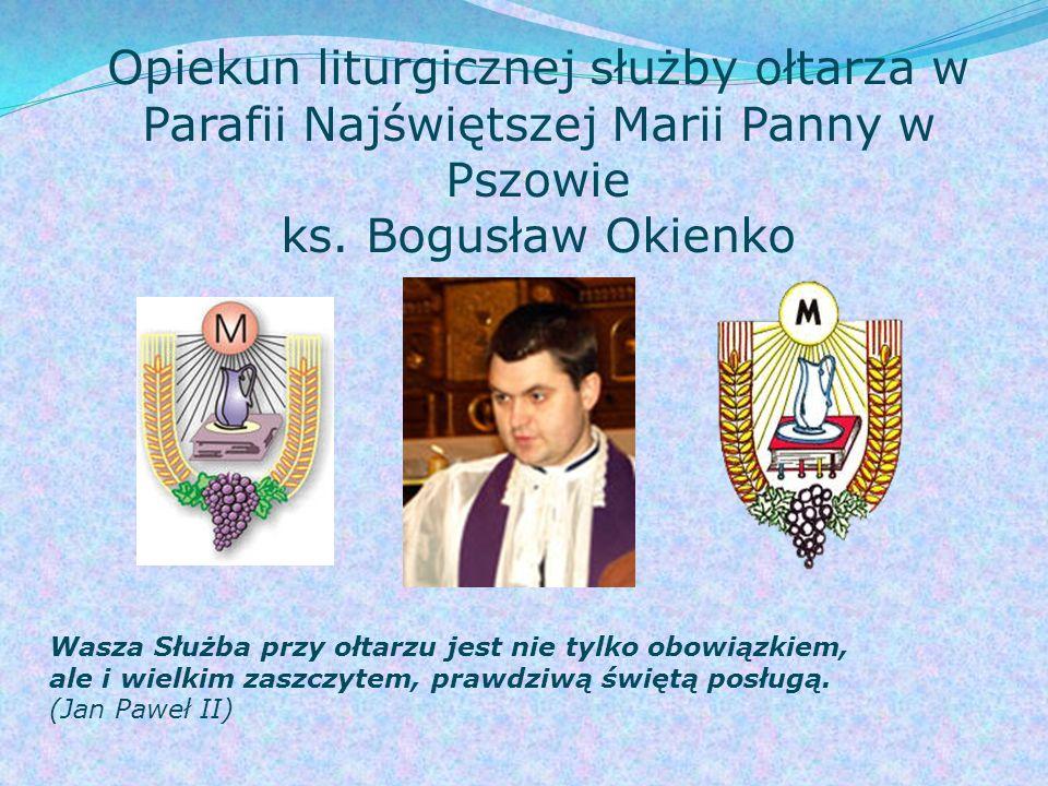 Opiekun liturgicznej służby ołtarza w Parafii Najświętszej Marii Panny w Pszowie