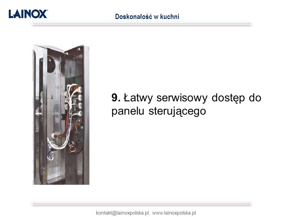 9. Łatwy serwisowy dostęp do panelu sterującego