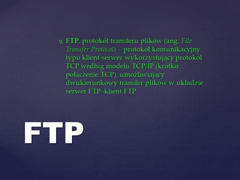 FTP, protokół transferu plików (ang
