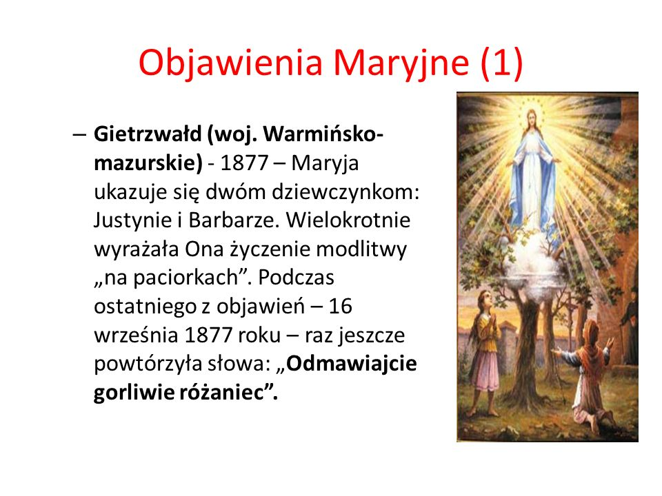 Objawienia Maryjne (1)