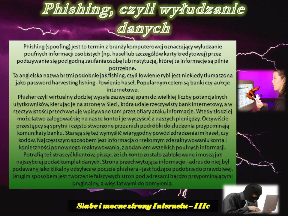 Phishing, czyli wyłudzanie danych