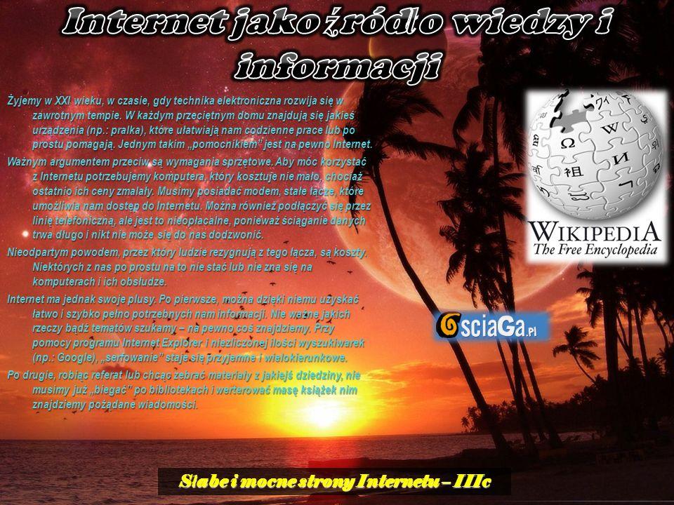 Internet jako źródło wiedzy i informacji