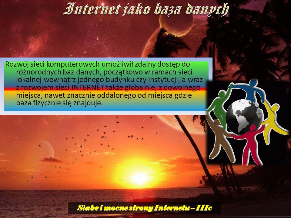 Internet jako baza danych