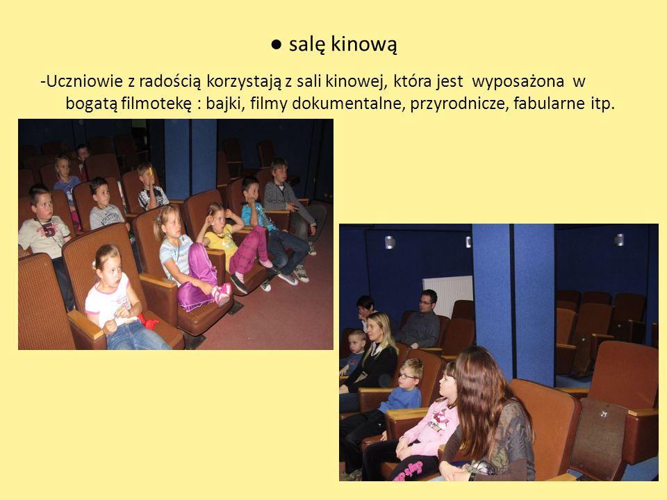 ● salę kinową