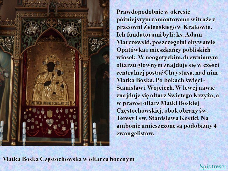 Matka Boska Częstochowska w ołtarzu bocznym
