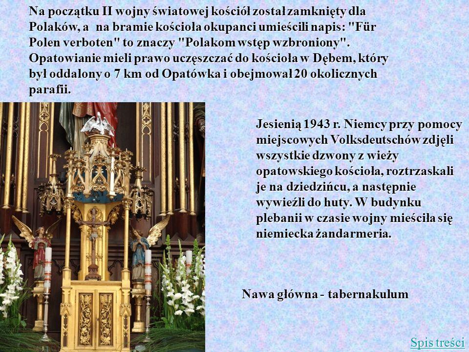 Nawa główna - tabernakulum