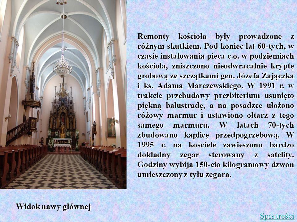Remonty kościoła były prowadzone z różnym skutkiem