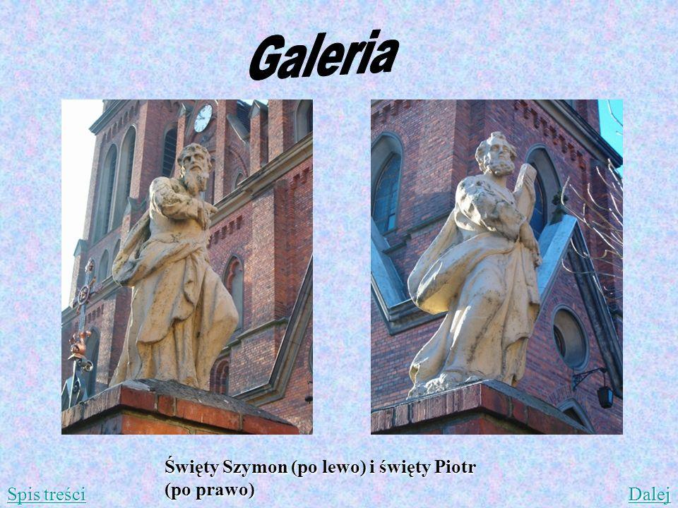 Galeria Święty Szymon (po lewo) i święty Piotr (po prawo) Spis treści